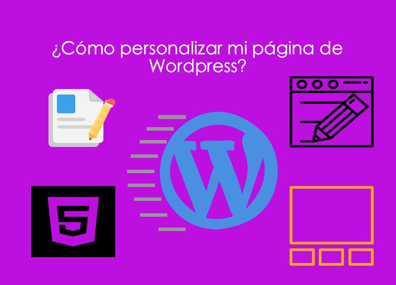 Como personalizar mi pagina de wordpress