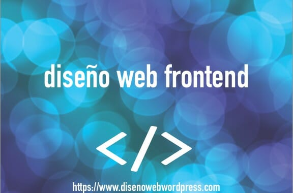 diseño web frontend