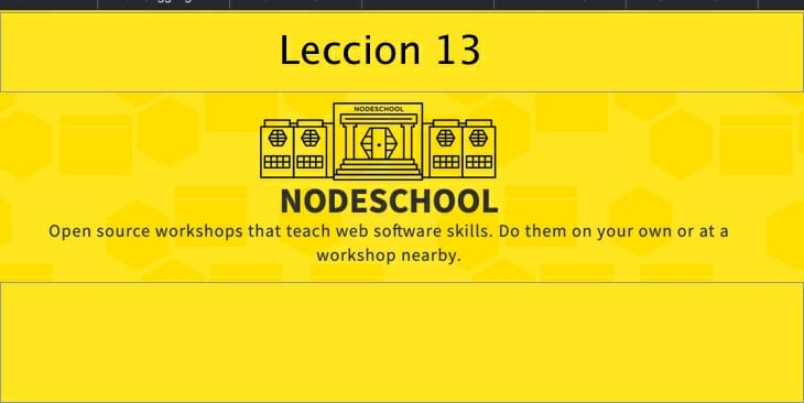 Leccion-13 learnyounode Lección 13 – HTTP JSON API Server