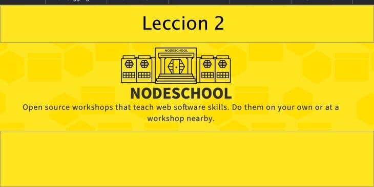 Leccion-2 nodeschools