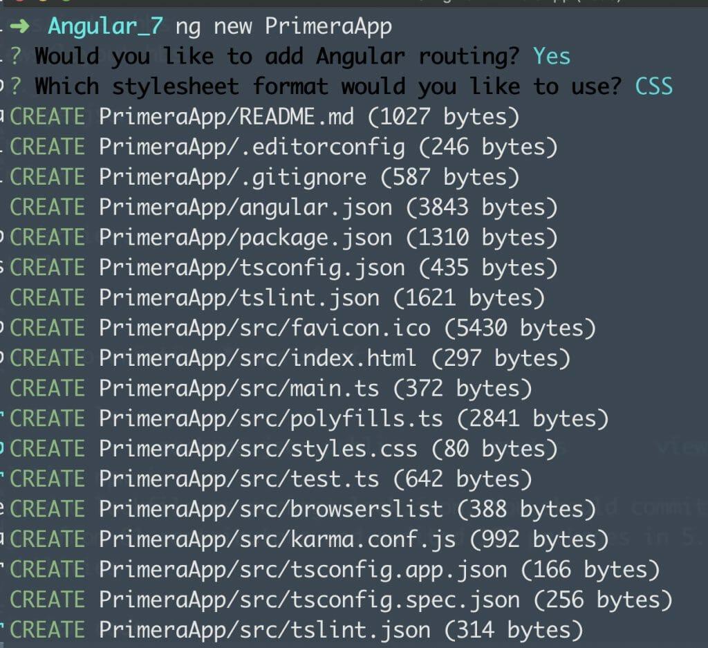 Angular Empezando con Angular 7
